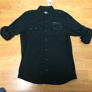 Men's jeans by buffalo shirt long sleeve black